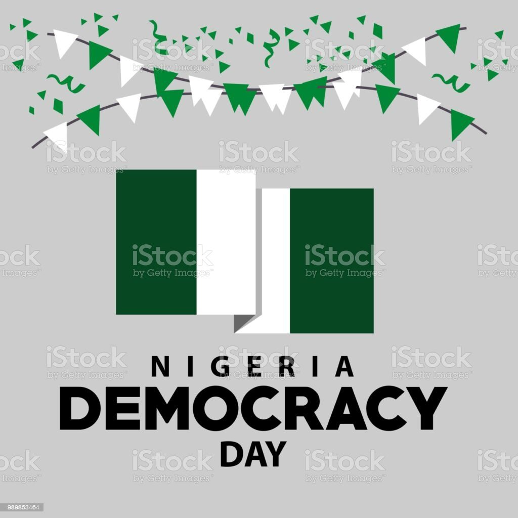 Nigeria Democracy Day Celebrations Vector Template Design